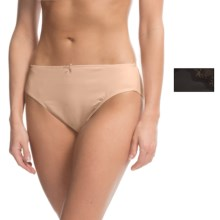 Ellen Tracy Microfiber High-Cut Brief Panties - 2-Pack (For Women) in Black/Sunbeige - Closeouts