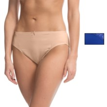 Ellen Tracy Microfiber High-Cut Brief Panties - 2-Pack (For Women) in Sapphire/Sunbeige - Closeouts