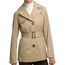 Ellen Tracy Outerwear Belted Mini Trench Coat (For Women) in Khaki - Closeouts