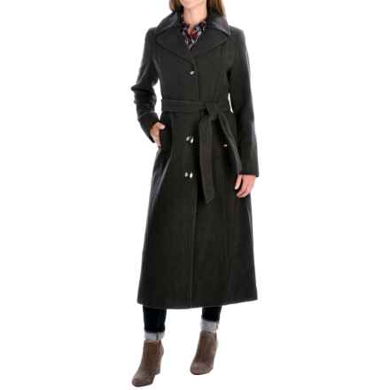 Ellen Tracy Outerwear Belted Trench Coat - Wool Blend (For Women) in Charcoal - Closeouts