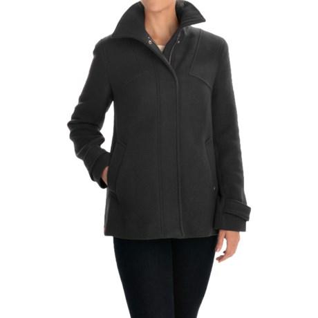 Ellen Tracy Outerwear Car Coat - Zip Front (For Women) in Black