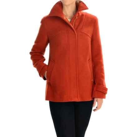 Ellen Tracy Outerwear Car Coat - Zip Front (For Women) in Pumpkin - Closeouts