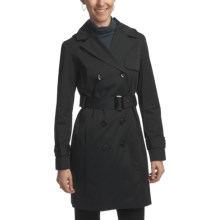 Ellen Tracy Outerwear Classic Trench - Detachable Hood (For Women) in Black - Closeouts