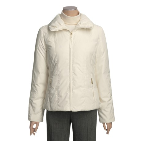 Ellen Tracy Outerwear Down Jacket - Packable (For Women) in Ivory
