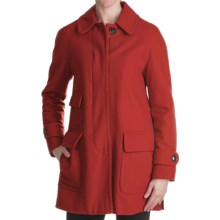 Ellen Tracy Outerwear Fly Front Stadium Coat - Wool Blend (For Women) in Flame - Closeouts