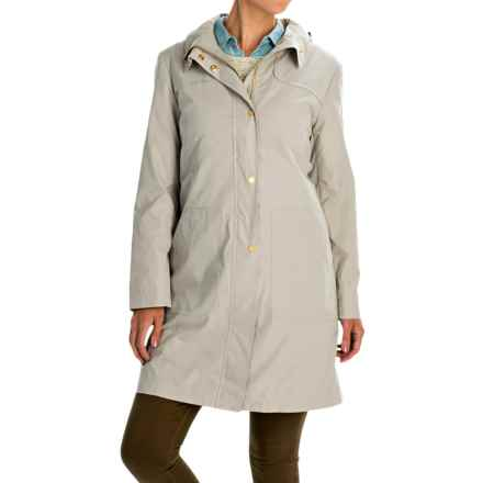 Ellen Tracy Outerwear Microfiber A-Line Coat - Removable Liner (For Women) in Stone - Closeouts