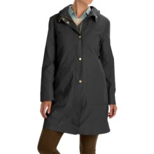 Ellen Tracy Outerwear Microfiber A-Line Coat - Removable Lining (For Women) in Black - Closeouts