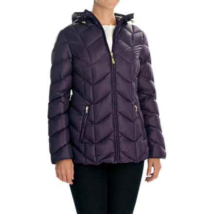 Ellen Tracy Outerwear Packable Down Jacket - Hooded (For Women) in Eggplant - Closeouts