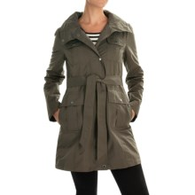 Ellen Tracy Outerwear Safari Techno All-Weather Belted Coat (For Women) in Olive - Closeouts
