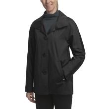 Ellen Tracy Outerwear Signature Rain Kimono Coat (For Plus Size Women) in Black - Closeouts