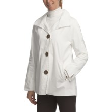 Ellen Tracy Outerwear Signature Rain Kimono (For Women) in White - Closeouts