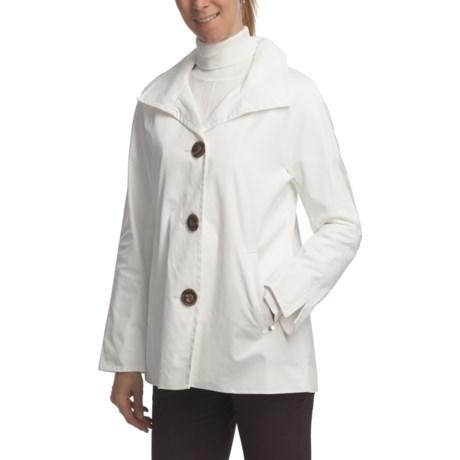 Ellen Tracy Outerwear Signature Rain Kimono (For Women) in White