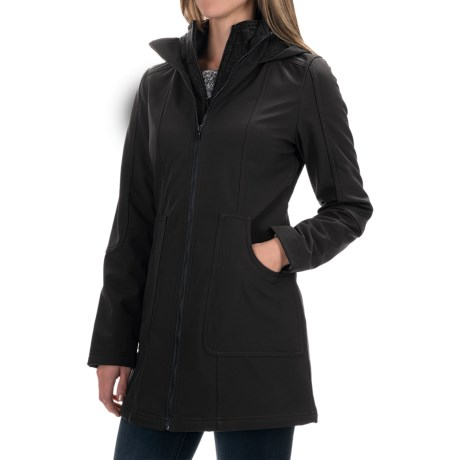 Ellen Tracy Outerwear Soft Shell Jacket (For Women) in Black