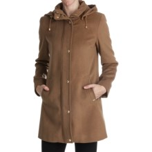 Ellen Tracy Outerwear Topper Coat - Wool Blend (For Women) in Carmel - Closeouts