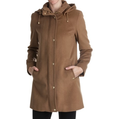 Ellen Tracy Outerwear Topper Coat - Wool Blend (For Women) in Carmel