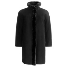Ellen Tracy Outerwear Wool Blend Car Coat - Faux-Fur Trim (For Plus Size Women) in Black - Closeouts