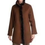 Ellen Tracy Outerwear Wool Blend Car Coat - Faux-Fur Trim (For Women)