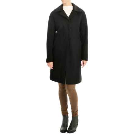 Ellen Tracy Outerwear Wool-Blend Walker Coat (For Women) in Black - Closeouts