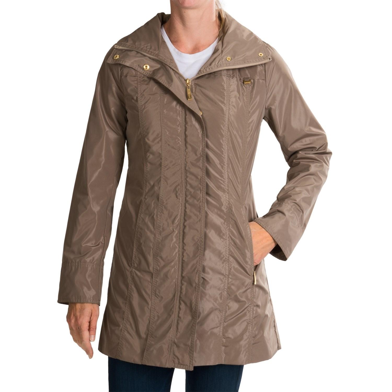 Womens packable rain jacket