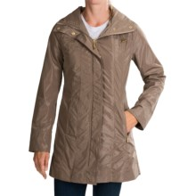 Ellen Tracy Packable Rain Coat (For Women) in Khaki - Closeouts