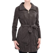 Ellen Tracy Packable Rain Jacket - Stowaway Hood (For Women) in Black - Closeouts