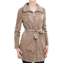 Ellen Tracy Packable Rain Jacket - Stowaway Hood (For Women) in Khaki - Closeouts