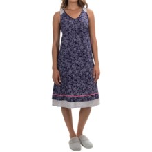 Ellen Tracy Printed Ballet Nightgown - Sleeveless (For Women) in Indigo Paisley - Overstock