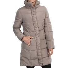 Ellen Tracy Quilted Down Walker Coat (For Women) in Bronze - Closeouts