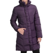 Ellen Tracy Quilted Down Walker Coat (For Women) in Plum - Closeouts