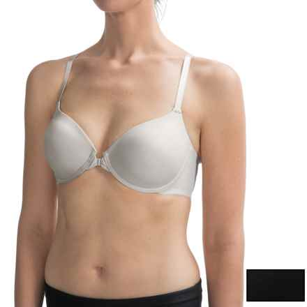 Ellen Tracy Racerback T-Shirt Bra - Underwire, 2-Pack (For Women) in Sterling/Black - Closeouts