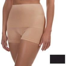 Ellen Tracy Seamless Control Shape Panties - Boy Shorts, 2-Pack (For Women) in Black/Latte - Overstock