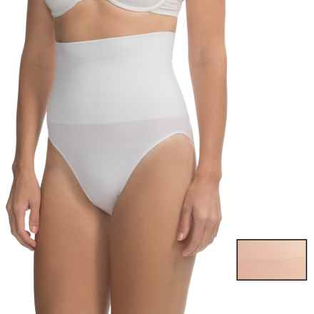 Ellen Tracy Seamless High-Waist Control Panties - Full-Cut Briefs, 2-Pack (For Women) in White/Nude - Overstock