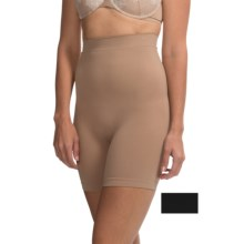 Ellen Tracy Seamless High-Waist Shaping Shorts - 2-Pack (For Women) in Nude/Black - Overstock