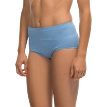Ellen Tracy Seamless Jacquard Panties - Full-Cut Briefs (For Women) in Versailles - Closeouts