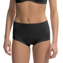Ellen Tracy Seamless Lace Panties - Full Briefs (For Women) in Black - Closeouts