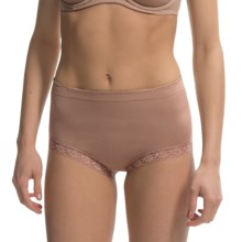Ellen Tracy Seamless Lace Panties - Full Briefs (For Women) in Latte - Closeouts