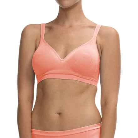 Ellen Tracy Seamless No-Wire Bra - Convertible Straps (For Women) in Peach Fizz - Closeouts