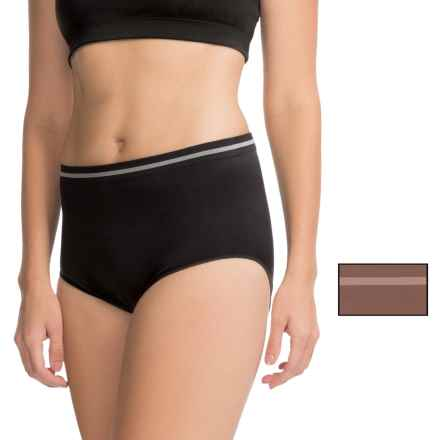 Ellen Tracy Seamless Panties - Full-Cut Briefs, 2-Pack (For Women) in Expresso/Black - Closeouts