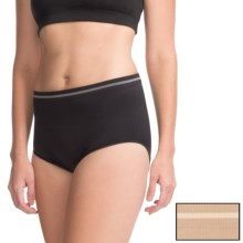 Ellen Tracy Seamless Panties - Full-Cut Briefs, 2-Pack (For Women) in Latte/Black - Closeouts