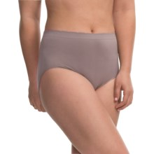 Ellen Tracy Seamless Panties - Full-Cut Briefs (For Women) in Titanium - Closeouts