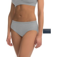 Ellen Tracy Seamless Panties - High-Cut Briefs, 2-Pack (For Women) in Heather Grey/Navy - Closeouts