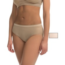 Ellen Tracy Seamless Panties - High-Cut Briefs, 2-Pack (For Women) in Natural/Sunbeige - Closeouts