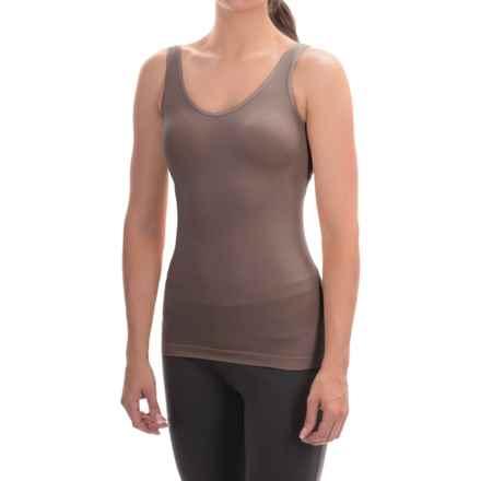 Ellen Tracy Seamless Tank Top - Reversible (For Women) in Mocha - Overstock