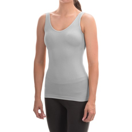 Ellen Tracy Seamless Tank Top - Reversible (For Women) in Sterling