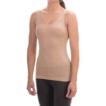 Ellen Tracy Seamless Tank Top - Reversible (For Women) in Sunbeige - Overstock