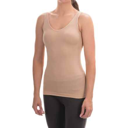 Ellen Tracy Seamless Tank Top - Reversible (For Women) in Sunbeige - Overstock