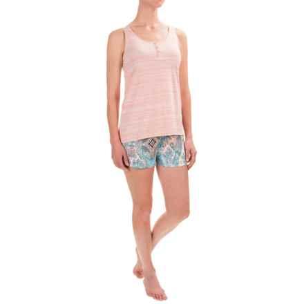 Ellen Tracy Shorty Pajamas - Sleeveless (For Women) in White/Multi - Closeouts