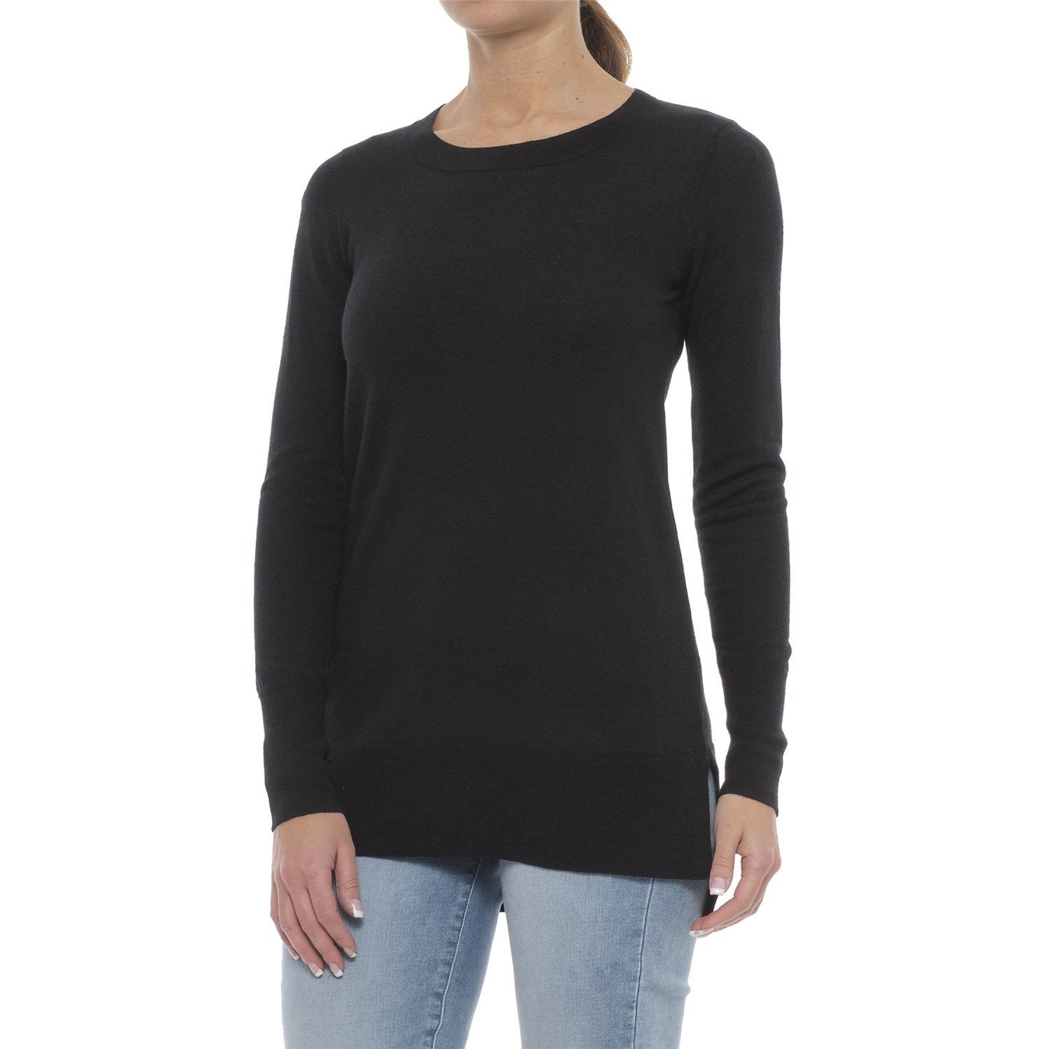 Ellen Tracy Step Hem Tunic Sweater (For Women) - Save 44%