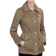Ellen Tracy Techno Anorak Jacket - Storm Flap, Stowaway Hood (For Women) in Basil - Closeouts