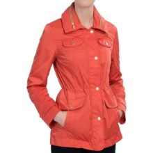 Ellen Tracy Techno Anorak Jacket - Storm Flap, Stowaway Hood (For Women) in Persimmon - Closeouts